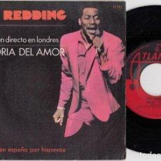 Discos de vinilo: OTIS REDDING - SHAKE (LIVE) / THE GLORY OF LOVE - SINGLE ESPAÑOL DE VINILO. Lote 228473640
