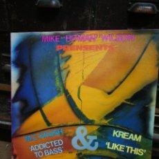 Discos de vinilo: MIKE HITMAN WILSON- M. C. KRASH & KREAM (MAX MUSIC), 1989.. Lote 228474620