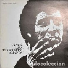 Disques de vinyle: VICTOR JARA – TE RECUERDO AMANDA. Lote 228481960