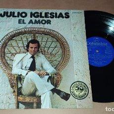 Discos de vinilo: LP JULIO IGLESIAS - EL AMOR. Lote 228497315