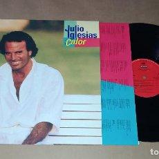 Discos de vinilo: LP JULIO IGLESIAS - CALOR. Lote 228497695