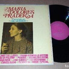 Discos de vinilo: LP MARIA DOLORES PRADERA ACOMPAÑADA POR LOS GEMELOS. Lote 228500125