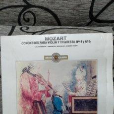 Discos de vinilo: MOZART CONCIERTOS PARA VIOLÍN N 4 Y 5. Lote 228502695