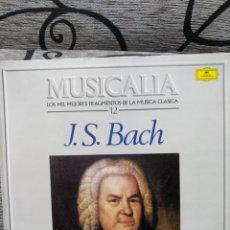 Discos de vinilo: MUSICALIA JS BACH. Lote 228504460