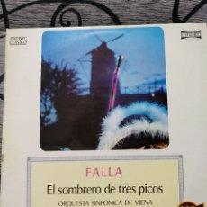 Discos de vinilo: FALLA - EL SOMBRERO DE TRES PICOS. Lote 228505200
