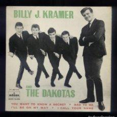 Discos de vinilo: BILLY J. KRAMER CON LOS DAKOTAS EP ESP. 1963 DSOE 16.556. Lote 228509155