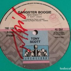Dischi in vinile: TONY SCOTT - GANGSTER BOOGIE - 1990. Lote 228516685