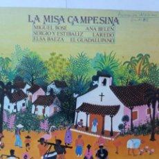 Discos de vinilo: L.P. 33 RPM, LA MISA CAMPESINA, MIGUEL BOSÉ, ANA BELÉN, SERGIO Y ESTIBALIZ, LAREDO, ELSA BAEZA. Lote 228519605