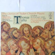 Discos de vinilo: L.P. 33 RPM, THE GLORIES OF TUDOR CHURCH MUSIC. THE CLERKES OF OXENFORD.EN DORSO LOS DETALLES. Lote 228523185