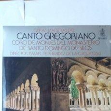 Discos de vinilo: L.P. 33 RPM, CANTO GREGORIANO, CORO DE MONJES DEL MONASTERIO DE SANTO DOMINDO DE SILOS. VER. Lote 228523365