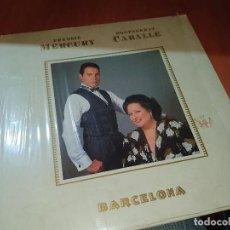 Discos de vinilo: FREDDIE MERCURY MONTSERRAT CABALLE, BARCELONA, CARPETA Y DISCO IMPECABLES. Lote 228523645