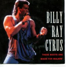 Disques de vinyle: BILLY RAY CYRUS / THESE BOOTS ARE MADE FOR WALKIN' AIN'T NO GOOD GOODBYE (SINGLE ALEMAN). Lote 228536575