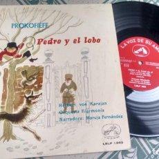 "Discos de vinilo: L.P. (VINILO) 10"" DE ORQUESTA BFIULARMONIA (DIRCETOR HERBERT VON KARAJAN) AÑOS 50. Lote 228540750"
