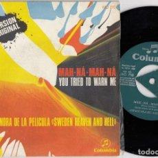 Discos de vinilo: PIERO UMILIANI - MAN HA MAN HA - SINGLE ESPAÑOL DE VINILO BSO SWEDEN HEAVEN AND HELL 1969. Lote 228555375
