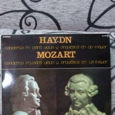 Discos de vinilo: HAYDN MOZART CONJUNTO DE SOLISTAS. Lote 228566000