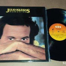 Discos de vinilo: LP JULIO IGLESIAS - MOMENTOS. Lote 228567720