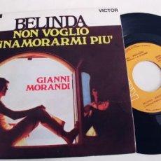 Discos de vinilo: GIANNI MORANDI-SINGLE BELINDA-NUEVO. Lote 228594605
