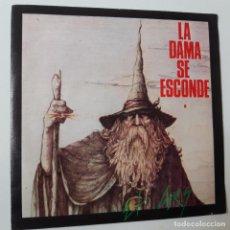 Discos de vinilo: LA DAMA SE ESCONDE- EL GRIS - SINGLE 1985 - VINILO COMO NUEVO.. Lote 228595795