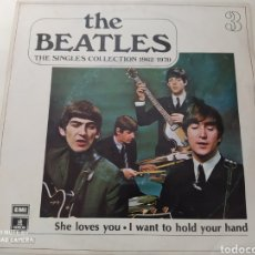 Discos de vinilo: THE BEATLES - SHE LOVES YOU. THE SINGLE COLLECTION 1962/1970. Lote 228610620