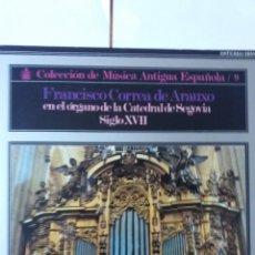 Discos de vinilo: L.P. 33 RPM. COLECCIÓN DE MÚSICA ANTIGUA ESPAÑOLA. FRANCISCO CORRE DE ARAUXO EN SEGOVIA VER. Lote 228623115