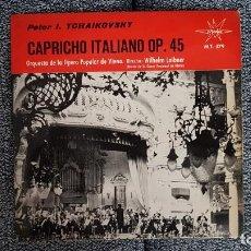 Discos de vinilo: PETER TCHAIKOVSKY.CAPRICHO ITALIANO.DIRECTOR WILHELM LOIBNER.AÑO.1.965. MARFER.CONTIENE FUNDA ORIGIN. Lote 228638322
