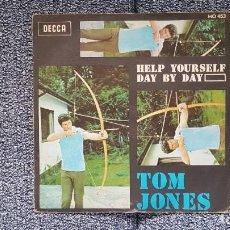 Discos de vinilo: TOM JONES - HELP YOURSELF / DAY BY DAY. AÑO 1.968. EDITADO POR DECCA. Lote 228643190