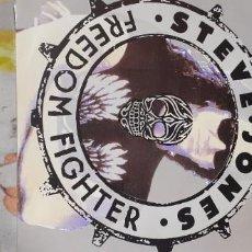 Discos de vinilo: STEVE JONES FREEDOM FIGHTER GUITARRA SEX PISTOLS 3 TEMAS. Lote 228644455