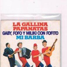 Discos de vinilo: DISCO VINILO SINGLE PAYASOS DE LA TELE GABY FOFO MILIKI FOFITO LA GALLINA PAPANATAS MI BARBA 1974. Lote 228646380