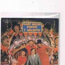 Discos de vinilo: DISCO VINILO SINGLE PAYASOS DE LA TELE GABY MILIKI FOFITO MILIKITO COMO ME PICA LA NARIZ ANIMALES FC. Lote 228646805