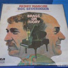 Discos de vinilo: LOH3 LP JAZZ UK 70S HENRY MANCINI AND DOC SEVERINSEN BRASS ON IVORY MANCHA EN TAPA VINILO MUY BIEN. Lote 228662110