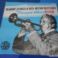 Discos de vinilo: LOH3 LP JAZZ UK 70S HARRY JAMES AND HIS MUSICMAKERS TRUMPET BLUES MUY BUEN ESTADO. Lote 228662320