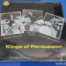 Discos de vinilo: LOH3 LP JAZZ UK 60S MONO PRECIOSO KINGS OF PERCUSION KRUPA RICH BELLSON BUEN ESTADO VERVE. Lote 228662510