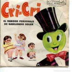 Discos de vinilo: CRI-CRI / EL ROPAVEJERO / EL TELEFONO / GATO DE BARRIO / CAMINITO DE .. (EP ORIGINAL MEXICANO). Lote 228691850