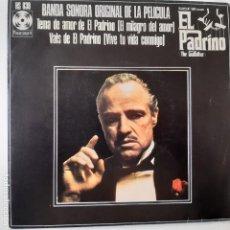 Disques de vinyle: EL PADRINO (THE GODFATHER)- BANDA SONORA- SPAIN SINGLE 1972.. Lote 228694705