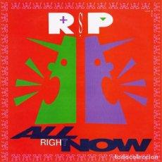 Discos de vinilo: R.S.P. - ALL RIGHT NOW - MAXI SINGLE SPAIN 1990. Lote 228724530