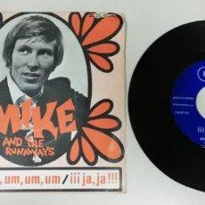 "Discos de vinil: 1220 -MIKE AND THE RUNAWAYS UM UM UM JA JA !!- VIN 7"" POR VG DIS VG+. Lote 228775755"