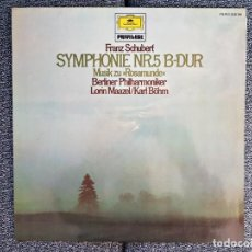 Discos de vinilo: FRANZ SCHUBERT-SYMPHONIE NR.5 B-DUR -DR.LORIN MAAZEL/KARL BÖHM.ORQUESTA .FILARMONICA DE BERLIN.. Lote 228782595