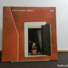 Discos de vinilo: DISCO VINILO LP. JOAN MANUEL SERRAT - 1978. EDICIÓN ESPAÑOLA. 33 RPM.. Lote 228792470