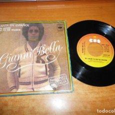 Disques de vinyle: GIANNI BELLA DE AMOR YA NO SE MUERE CANTADO EN ESPAÑOL SINGLE VINILO DEL AÑO 1976 ESPAÑA 2 TEMAS. Lote 228795995