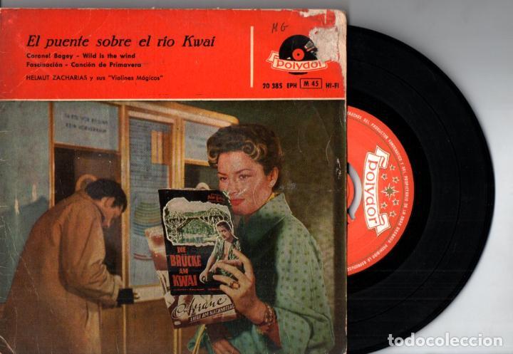 HELMUT ZACHARIAS : EL PUENTE SOBRE EL RIO KWAI (POLYDOR, 1958) (Música - Discos de Vinilo - EPs - Bandas Sonoras y Actores)