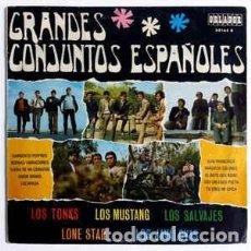 Discos de vinilo: GRANDES CONJUNTOS ESPAÑOLES - LONE STAR, LOS MUSTANG,LOS SALVAJES, LOS STAR.... MINI LP, 10 PULGADAS. Lote 228858895