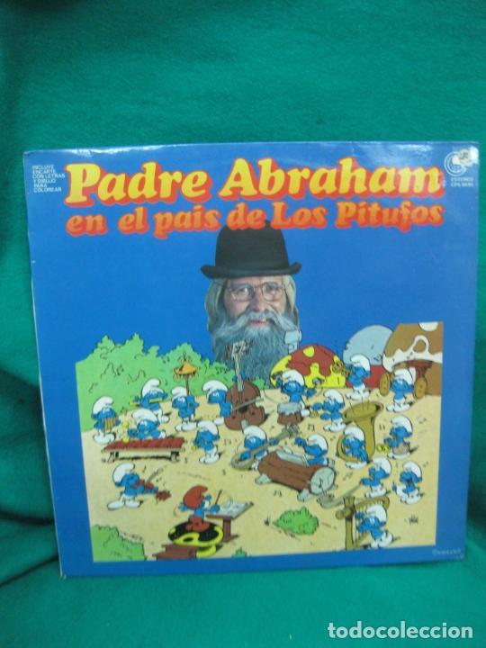 PADRE ABRAHAM EN EL PAIS DE LOS PITUFOS. LP 1979. EN ,MUY BUEN ESTADO. (Música - Discos - LPs Vinilo - Música Infantil)