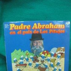 Discos de vinilo: PADRE ABRAHAM EN EL PAIS DE LOS PITUFOS. LP 1979. EN ,MUY BUEN ESTADO.. Lote 228859900