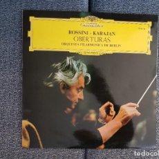 Discos de vinilo: ROSSINI - OBERTURAS. DIR. HERBERT VON KARAJAN. ORQUESTA FILARMONICA DE BERLIN. Lote 228915120