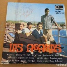 Discos de vinilo: LOS AGAROS LP FONTANA 1960 (FIRMADO POR EL MIEMBRO DEL GURPO MIGUEL ANGEL VEGA). Lote 228927490