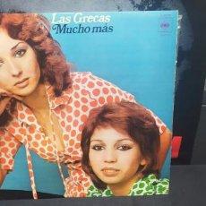 Disques de vinyle: LAS GRECAS - MUCHO MAS CON ENCARTE TIPO POSTER VINILO MUY BUEN ESTADO S 80774. Lote 228935945