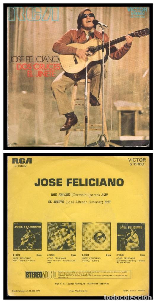 XX SINGLE, JOSE FELICIANO, DOS CRUCES Y YL JINETE. (Música - Discos - Singles Vinilo - Cantautores Extranjeros)