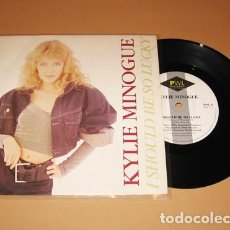 Discos de vinilo: KYLIE MINOGUE - I SHOULD BE SO LUCKY - SINGLE - 1987. Lote 228957700