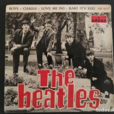 Discos de vinilo: THE BEATLES BOYS/CHAINS/LOVE ME DO/BABY IT'S YOU EP 1964 EMI ODEON DSOE 16.574 ESPAÑA SPAIN. Lote 228970055