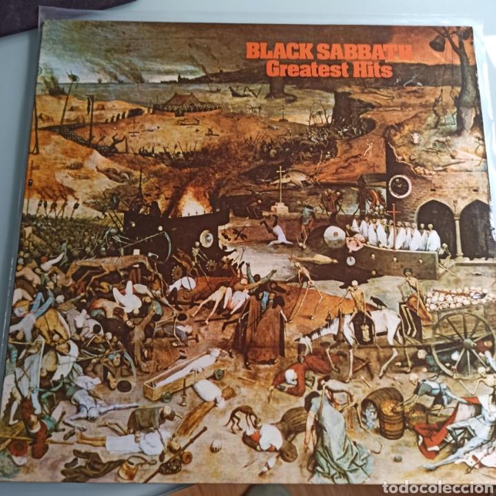 BLACK SABBATH - GREATEST HITS (NEMS - NEL 6009, UK, 1977) (Música - Discos - LP Vinilo - Heavy - Metal)